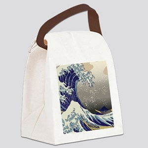Hokusai The Great Wave off Kanaga Canvas Lunch Bag