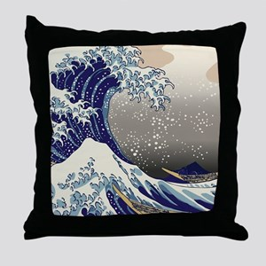 Hokusai The Great Wave off Kanagawa Throw Pillow
