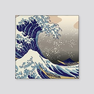 "Hokusai The Great Wave off  Square Sticker 3"" x 3"""