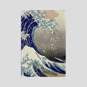 Hokusai The Great Wave off Kanaga Rectangle Magnet