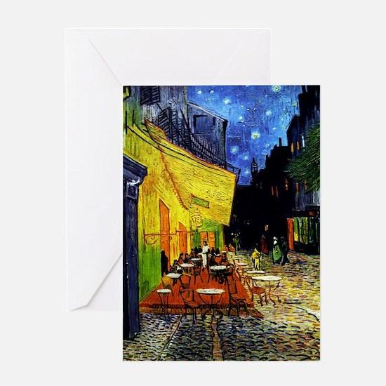 Van Gogh Cafe Terrace At Night Greeting Card