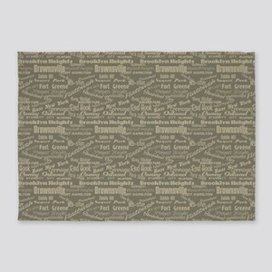Brooklyn Hoods 5'x7'Area Rug