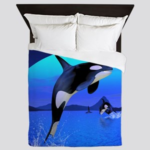 orca_woman_all_over_tshirt_827_H_F Queen Duvet