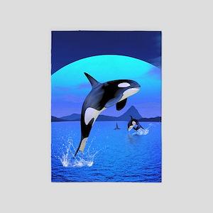 orca_84_curtains_835_H_F 5'x7'Area Rug