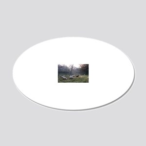 Early Risers 20x12 Oval Wall Decal