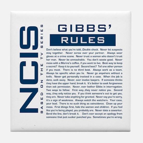 NCIS Gibbs Rules Tile Coaster