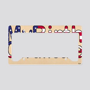 Clutch/Toiletry License Plate Holder