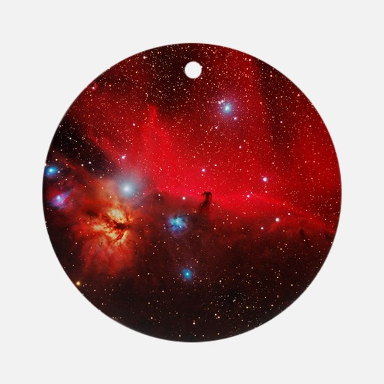 Horsehead and Flame nebulae Round Ornament