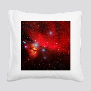 Horsehead and Flame nebulae Square Canvas Pillow