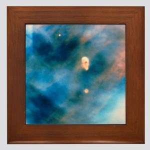 Hubble image of protoplanetary systems Framed Tile