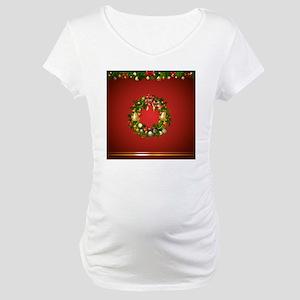 Xmas Curtain Maternity T-Shirt