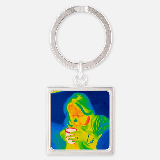 Hot drink, thermogram Square Keychain