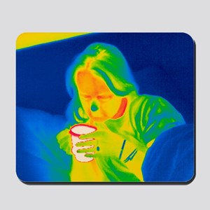 Hot drink, thermogram Mousepad