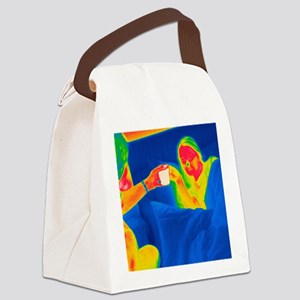Hot drink, thermogram Canvas Lunch Bag