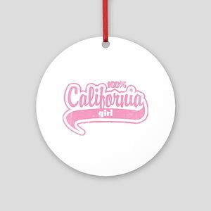 """""""100% California Girl"""" Ornament (Round)"""