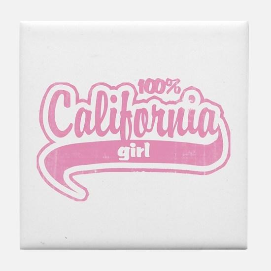 """""""100% California Girl"""" Tile Coaster"""
