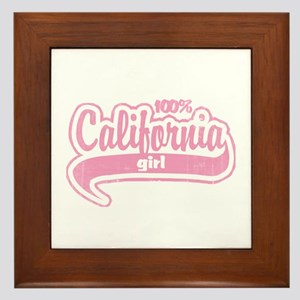 """""""100% California Girl"""" Framed Tile"""