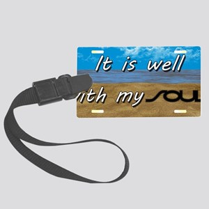 Well With My Soul Beach Large Luggage Tag