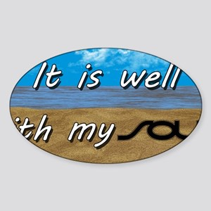 Well With My Soul Beach Sticker (Oval)