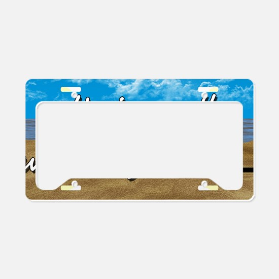 Well With My Soul Beach License Plate Holder