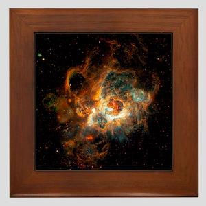 Hubble Space Telescope view of nebula  Framed Tile