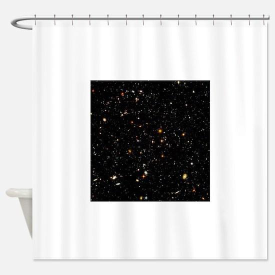 Hubble Ultra Deep Field galaxies Shower Curtain