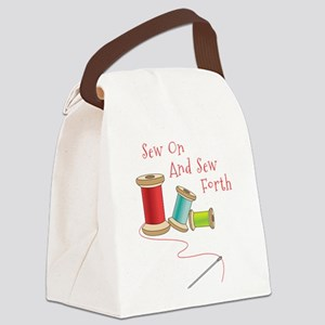 Sew on and Sew Forth Canvas Lunch Bag