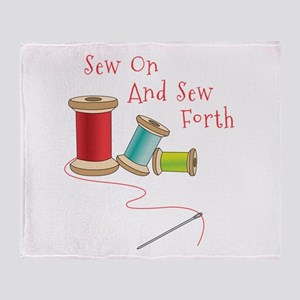 Sew on and Sew Forth Throw Blanket