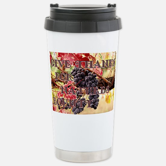 Give Thanks Stainless Steel Travel Mug