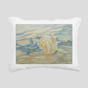 Polar Dawn Rectangular Canvas Pillow