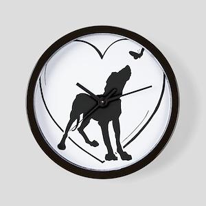 Dog  Butterfly Wall Clock