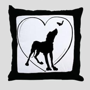 Dog  Butterfly Throw Pillow