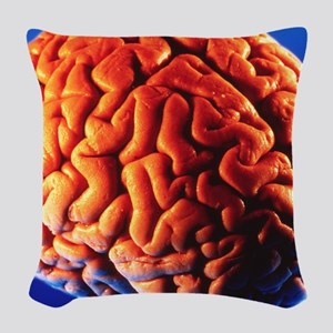 Human brain Woven Throw Pillow