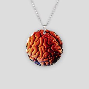 Human brain Necklace Circle Charm