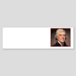 Jefferson On Democracy Sticker (Bumper)