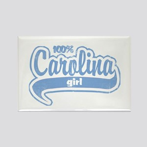 """100% Carolina Girl"" Rectangle Magnet"
