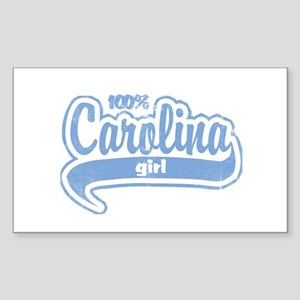 """100% Carolina Girl"" Rectangle Sticker"