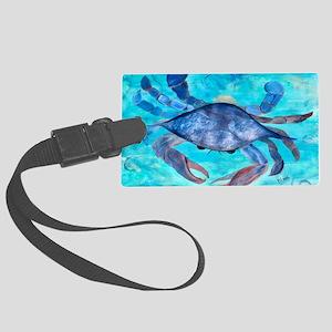 Blue Crab Large Luggage Tag
