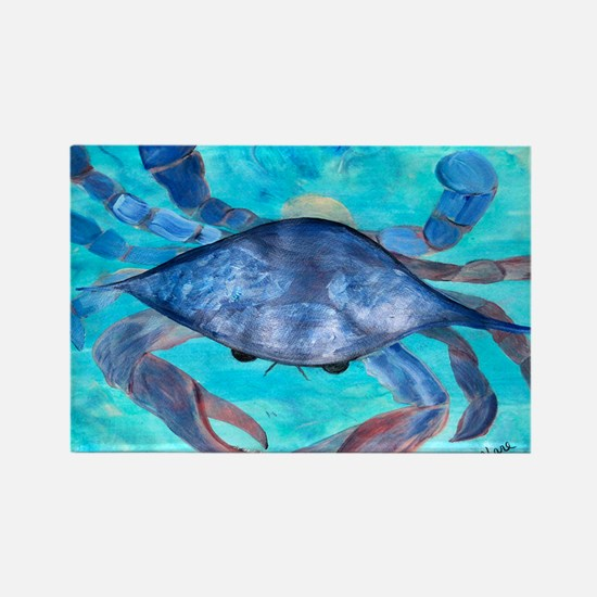 Blue Crab Rectangle Magnet