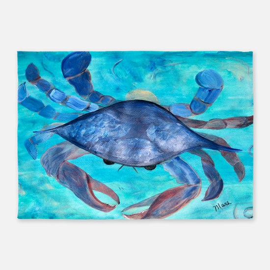Blue Crab 5 X7 Area Rug