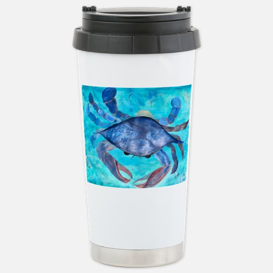 Blue Crab Stainless Steel Travel Mug