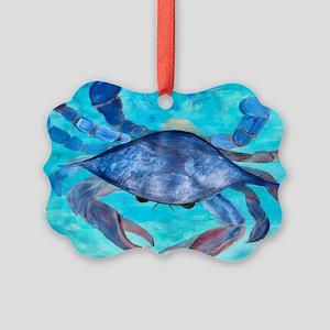 Blue Crab Picture Ornament