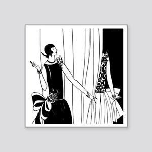 "Art Deco Fashion Show Square Sticker 3"" x 3"""