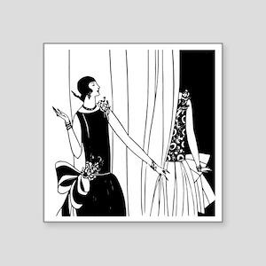 """Art Deco Fashion Show Square Sticker 3"""" x 3"""""""