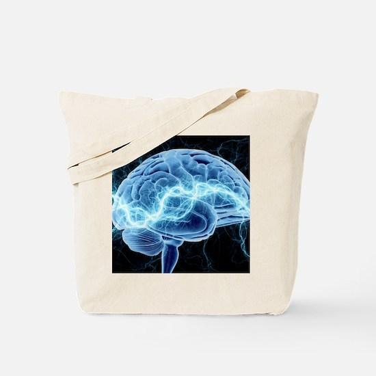 Human brain, conceptual artwork Tote Bag