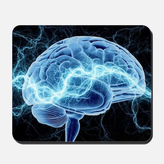 Human brain, conceptual artwork Mousepad