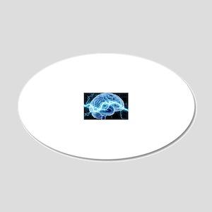 Human brain, conceptual artw 20x12 Oval Wall Decal
