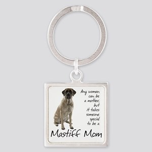Mastiff Mom Square Keychain