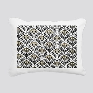 Art Deco Geo Pattern Rectangular Canvas Pillow