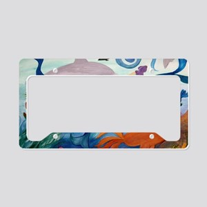 Mermaid  Tropical Fish Party License Plate Holder